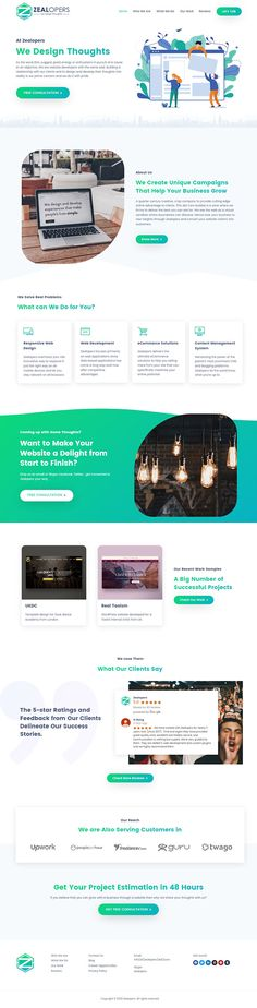 Zealopers - Web Design Agency Home Page Design on Behance Do you want a website? Contact me. Web Design Agency, Landing Page Design, Behance, Photoshop, Website