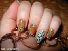 Hippie Bloom #NailArt by #JamberryNails is a fun transition from summer to fall. Show off your nice nails every #ManicureMonday at http://blog.aquariann.com/search/label/manicure%20monday?max-results=3