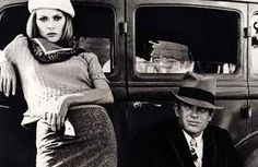 Faye Dunaway and Warren Beatty as Bonnie & Clyde, a movie that exists solely to inspire fashion shoots.