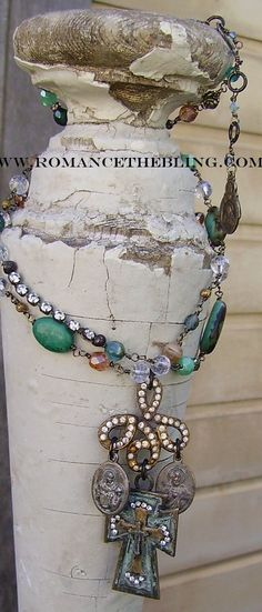 One of a Kind Assemblage Necklace ~ Published in the 2011 Jewelry Affaire Magazine ♥
