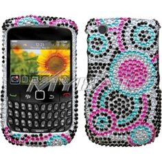 Insten Diamond Phone Case Cover for RIM Blackberry Curve 8520/ 8530/ 9300/ 9330 3G #1108611