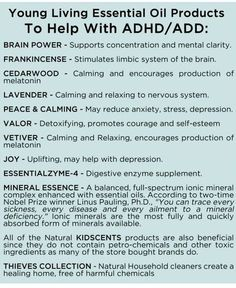 More on ADHD oils https://www.youngliving.org/leighann74