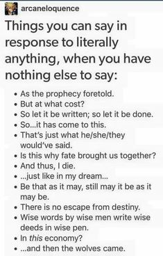 how to talk when you have nothing to say
