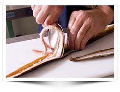 Demonstratie - Informatie over fileren van gerookte paling