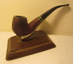 Carey Magic Inch Emerald Isle Sandblast Bent Estate Briar Tobacco Smoking Pipe