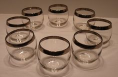 Set of 8 Mad Men Era Roly Poly Retro Highball by WendysVintageHome, $65.00