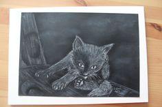 Black cat by GabrielaSzabova on Etsy