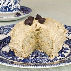 Mini Banana Cakes with Cinnamon Peanut Butter Frosting. Sounds delish!