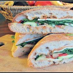 Mediterranean Pressed Sandwich by infinebalance