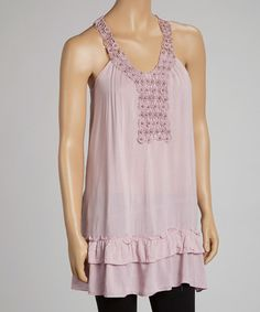 Take a look at this Pink Yoke Tank by Simply Irresistible on #zulily today!