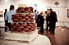 """Dunford Donuts wedding """"cake"""".......Tyler, I want this for my birthday cake ;)  Mmmm"""