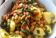 Dandelion, Cannellini, Potatoes, and Roasted Red Peppers | Oldways