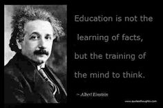 Education is not the learning of facts,but the training of the mind to think. #Education #learning #facts #training #think #RO #roboticsolmpiad