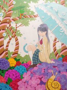 Twitter / EISAKUSAKU: 幼い頃の雨の日、軒下の小窓を開けたら目の前に小さな植物とカエ ...