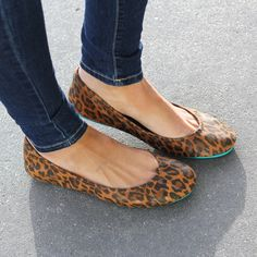 Leopard Print Tieks - Designer Leather Ballet Flats