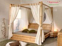 KARIMUN Himmelbett - Bambusbett 200x220 | PREMIUM EDITION