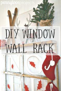 DIY Window Wall Rack