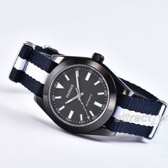 40mm Parnis Japan Automatic Movement Men Watch PVD Coated Case Sapphire Crystal #parnis #Sport