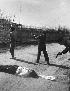 中国、国共内戦時の処刑風景