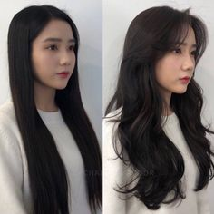 Long Layered Hair, Long Curly Hair, Long Hair Cuts, Asian Hair Highlights, Hair Color Asian, Asian Hair Inspo, Korean Long Hair, Korean Hairstyle Long, Hair Korean Style