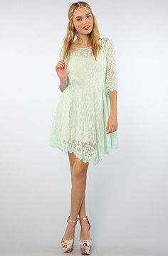 Free People The Floral Mesh lace Dress in Pale Mint : Karmaloop.com - Global Concrete Culture
