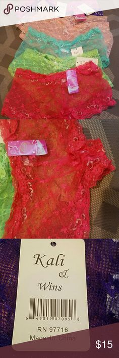 Panties 7 lace boy short panties. NWT. Not even tried on. Ordered M. Apparently  M in China is small. So understand these are more of a SMALL. ?? will sell all together or $4 each. Intimates & Sleepwear