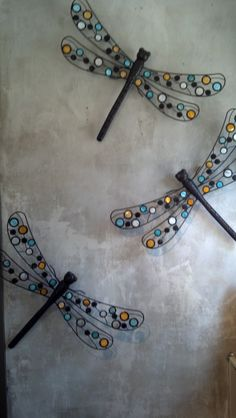 LOVE these jeweled dragonfly wall decor accents! Great for indoor OR outdoor living spaces.. Get them at The Elements 4 Life!