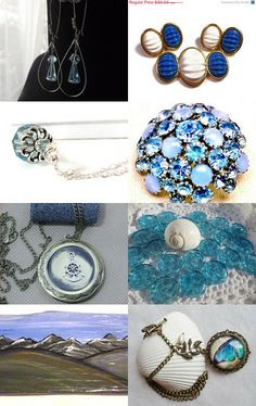 Lost and found throughout the blue sea - 100% Potti Team Treasury by Ester V. on Etsy--Pinned with TreasuryPin.com