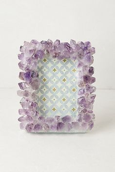 Precious Stone Frame  #anthropologie  Inspired by Grandin Road Purple Thistle.
