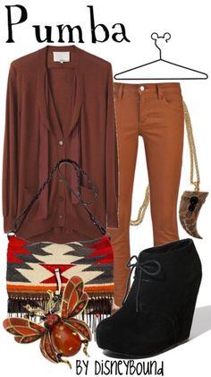 Disney Bound - Pumba ~ The Lion King Disney Themed Outfits, Disney Inspired Fashion, Character Inspired Outfits, Disney Bound Outfits, Disney Fashion, Disney Dress Up, Estilo Disney, Fandom Fashion, Fashion News
