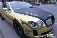 Gold-black Bentley Continental Supersport