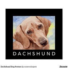 Dachshund Dog Posters #dachshundart