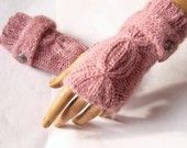 Hand Knit Gloves, Fingerless mitten