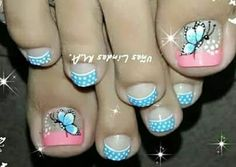 Pies Toe Nail Art, Toe Nails, Acrylic Nails, Pedicure Designs, Toe Nail Designs, Cute Pedicures, Fabulous Nails, Mani Pedi, All The Colors