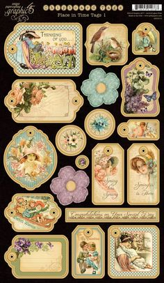 Graphic 45  Place In Time  Tags 1 by DiscountPaperCrafts on Etsy, $5.49