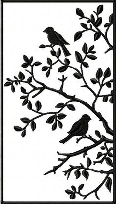 Advanced Embroidery Designs - Birds in a Tree