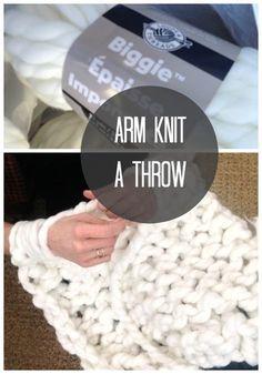 Chunky Arm Knit Throw DIY | Love of Home