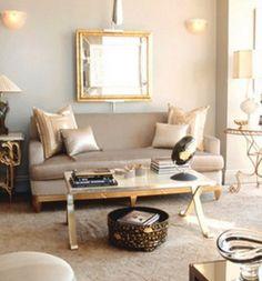 Lovely Mixed Metallics Silver Living Room, Living Room White, Living Room  Decor, Beige