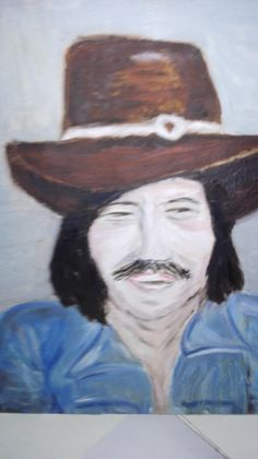 Irwin Goodman, Hats, Painting, Hat, Painting Art, Paintings, Painted Canvas, Hipster Hat, Drawings