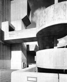 Visions of an Industrial Age // Hayward Gallery, London | '' It is an icon of sixties brutalist architecture and is one of the few remaining buildings of this style. The Hayward was designed by a group of young architects, including Dennis Crompton, Warren Chalk and Ron Herron. ''