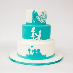 From the first #kiss to kissing the #bride, our #cakes can tell your story.