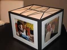 Neat diy card box the pictures around the box are in photo frames diy card box solutioingenieria Choice Image