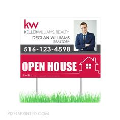 Real Estate Yard Signs, Real Estate Flyers, Real Estate Marketing, For Sale Sign, Sale Signs, Open House Signs, Lawn Sign, Green Environment, Real Estate Flyer Template