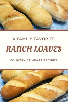Ranch Loaves are a favorite at our house. They are incredibly tasty and a perfect fit for chicken, beef, or pork dinners. Even sliced with a piece of cheese or slathered with butter makes a great snack. #ranchloaves #yeastbread #bread #ranchdressing #countryatheartrecipes