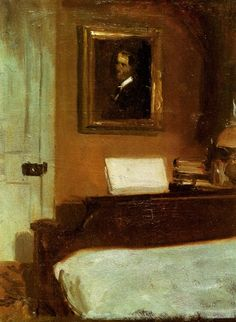 Edward Hopper painted this in his bedroom on the 2nd floor of his family home in Nyack, NY.