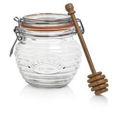 Kilner Glass Honey Pot with Beech Wood Dipper