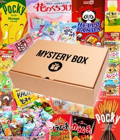 Asian Snacks, Surprise Box, Japanese Snacks, Snack Box, Order Food, Mystery Box, Gift Packaging, Asian Recipes, Aurora