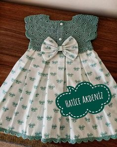 Girls Dresses Sewing, Frocks For Girls, Baby Girl Dresses, Baby Dress Tutorials, Baby Girl Dress Patterns, Baby Frocks Designs, Kids Frocks Design, Toddler Dress, Toddler Outfits