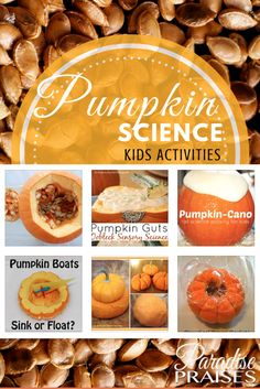 Ooey Goey Orangy Fall Fun Ahead with the pumpkin science kids activities.
