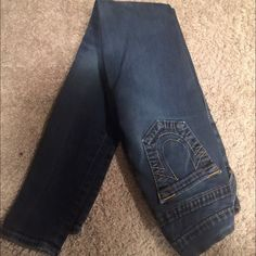 True Religion super skinny jeans These jeans are in great condition! Size 24. Stretchy, but not super stretchy. True Religion Jeans Skinny